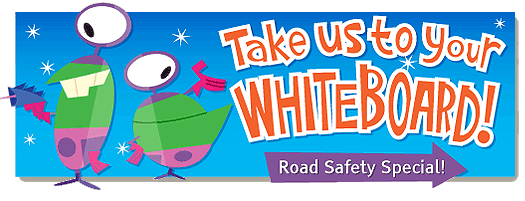 Free Road Safety Week cartoons and animations. Aliens and Chickens.